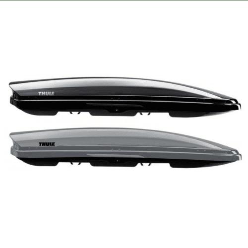 De Thule dakkoffer Dynamic L is een aerodynamische koffer met een sportief uiterlijk.