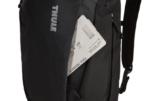 Thule EnRoute 23L zwart achterkant met ticket