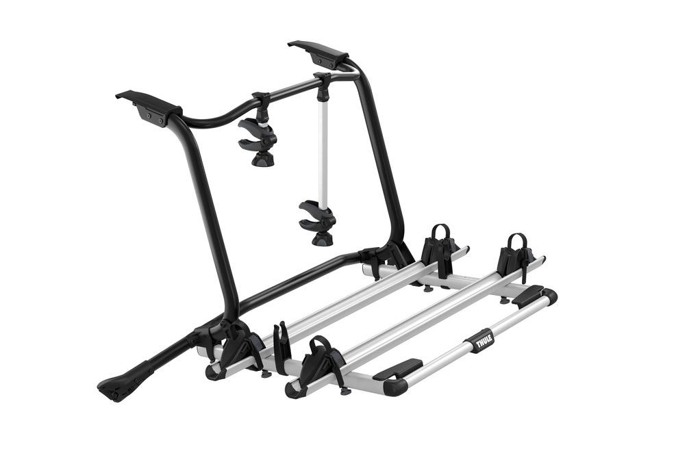 De Thule Wanderway 2 fietsendrager is speciaal ontworpen voor de Volkswager T6. De Wanderway is een eersteklas fietsendrager voor op de achterklep met een verhoogd platform. De fietsendrager is ideaal als u op fietsvakantie gaat.