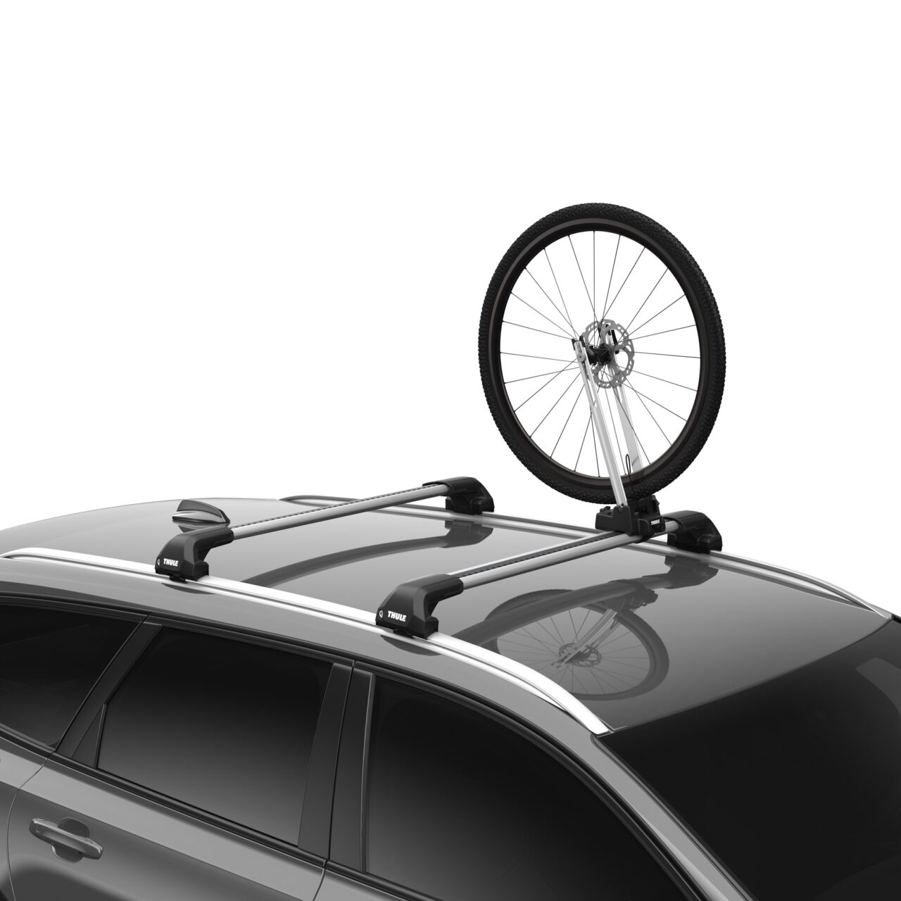"""<span class=""""subheader"""">Veilige en gemakkelijk te gebruiken voorwielhouder voor op het dak. Geen modderige en logge wielen meer in de kofferbak.</span> <div class=""""product-image""""></div>"""