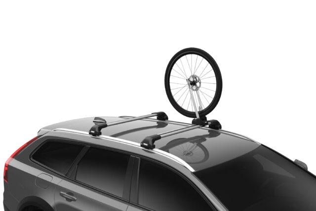 Thule Front Wheel Holder - Wiel gemonteerd op dak