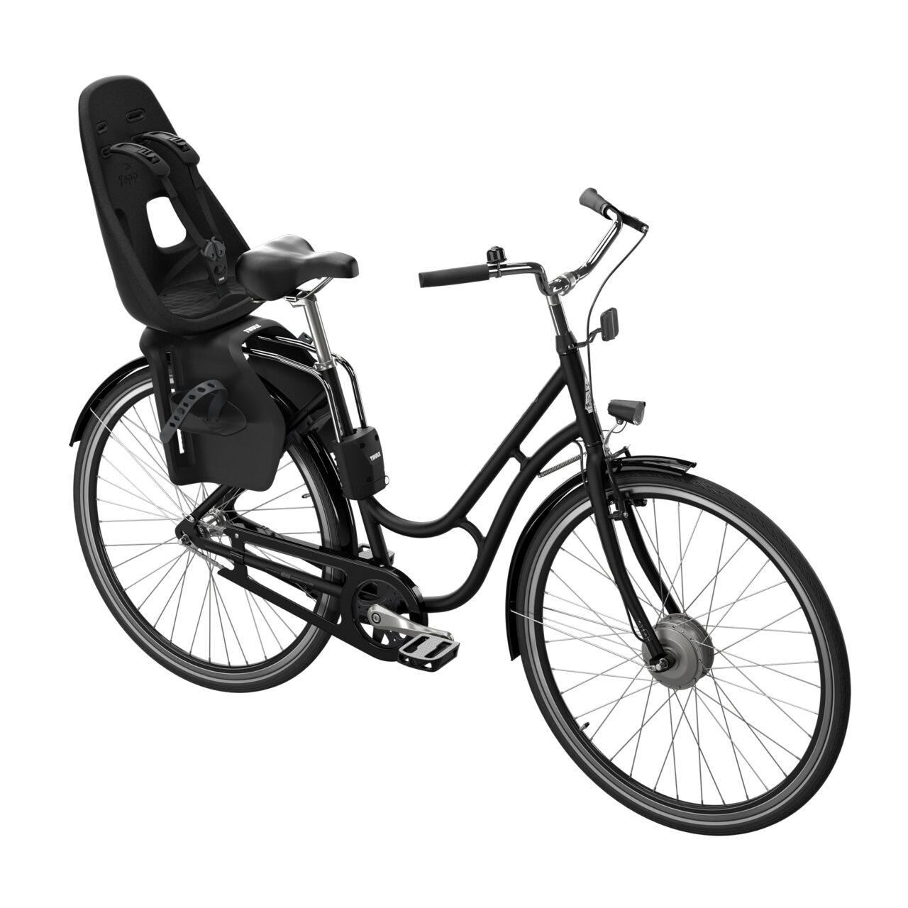 Thule Yepp Nexxt Maxi Frame Mounted – Zwart Gemonteerd