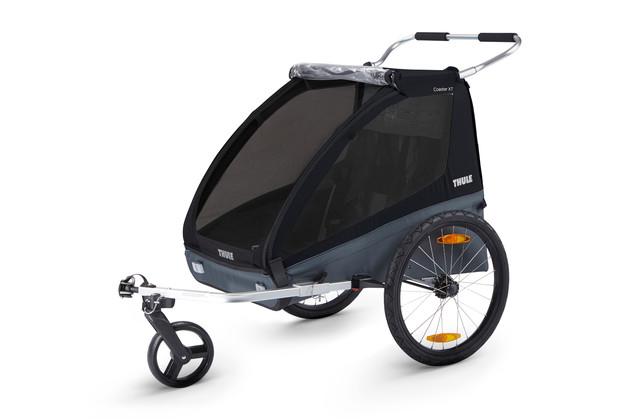 De Thule Coaster XT fietskar is geschikt voor 1 of 2 kinderen die samen maximaal 45kg mogen wegen! Wij bieden de Coaster XT fietskar aan in blauw en zwart, zie ook al onze andere Thule producten die gecombineerd kunnen worden met deze fantastische Thule fietskar.